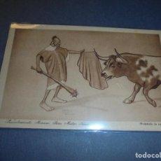 Postales: MELILLA - GUERRA DE AFRICA - HUMORISTICA , 9 PROCEDIMIENTO MORUNO PARA MATAR TOROS EDC. 1921 D. . Lote 61916712