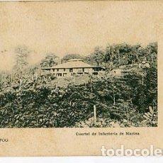 Postales: FERNANDO POO ( BASILÉ ) CUARTEL DE INFANTERIA DE MARINA ED. THOMAS. REVERSO SIN DIVIDIR. Lote 71943255