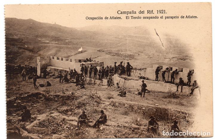 PS7245 CAMPAÑA DEL RIF 'EL TERCIO OCUPANDO EL PARAPETO DE ATLATEN'. M. V. 1921 (Postales - Postales Temáticas - Ex Colonias y Protectorado Español)
