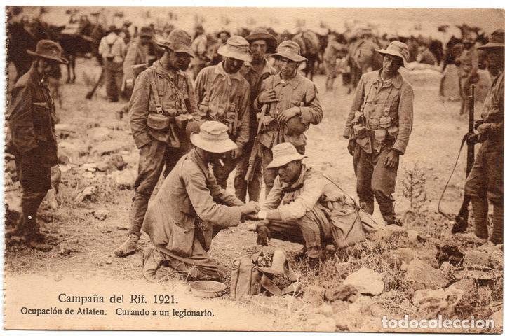 PS7246 CAMPAÑA DEL RIF 'CURANDO A UN LEGIONARIO'. M.V. SIN CIRCULAR. 1921 (Postales - Postales Temáticas - Ex Colonias y Protectorado Español)