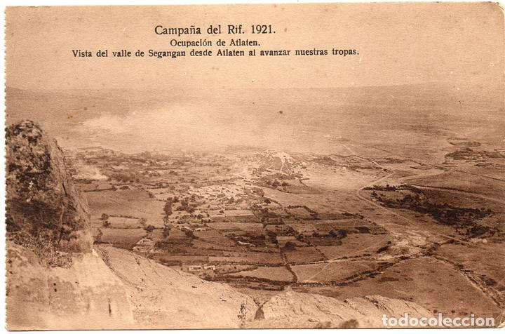PS7249 CAMPAÑA DEL RIF 'VALLE DE SEGANGAN DESDE ATLATEN AL AVANZAR NUESTRAS TROPAS'. 1921 (Postales - Postales Temáticas - Ex Colonias y Protectorado Español)