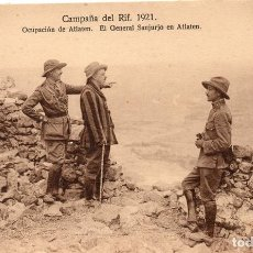 Postales: PS7251 CAMPAÑA DEL RIF 'OCUPACIÓN DE ATLATEN. EL GENERAL SANJURJO EN ATLATEN'. 1921. Lote 73284399