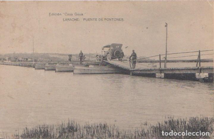 LARACHE - PUENTE DE PONTONES (Postales - Postales Temáticas - Ex Colonias y Protectorado Español)