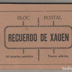 Postales: BLOC POSTAL RECUERDO DE XAUEN 20 POSTALES. COMPLETO. EDITOR M. ARRIBAS.. Lote 79014697
