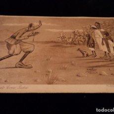 Postales: MELILLA - GUERRA DE AFRICA .- HUMORISTICA 3 - ESTAR QUIETO COMO PIEDRA EDC. 1921 D. MULLOR - MELILLA. Lote 80244361