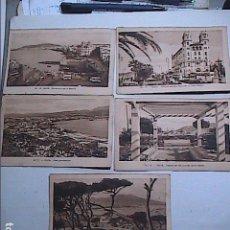 Postales: LOTE DE 5 POSTALES DE CEUTA.1930. CON SELLO DEL PROTECTORADO ESPAÑOL DE MARRUECOS.. Lote 91547620