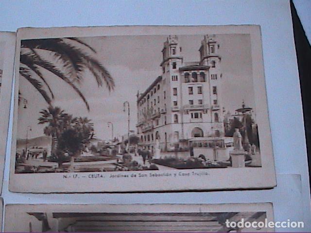 Postales: LOTE DE 5 POSTALES DE CEUTA.1930. CON SELLO DEL PROTECTORADO ESPAÑOL DE MARRUECOS. - Foto 3 - 91547620