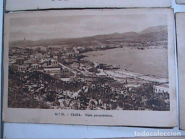 Postales: LOTE DE 5 POSTALES DE CEUTA.1930. CON SELLO DEL PROTECTORADO ESPAÑOL DE MARRUECOS. - Foto 4 - 91547620