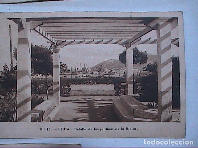 Postales: LOTE DE 5 POSTALES DE CEUTA.1930. CON SELLO DEL PROTECTORADO ESPAÑOL DE MARRUECOS. - Foto 5 - 91547620