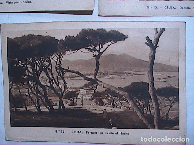 Postales: LOTE DE 5 POSTALES DE CEUTA.1930. CON SELLO DEL PROTECTORADO ESPAÑOL DE MARRUECOS. - Foto 6 - 91547620