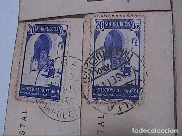 Postales: LOTE DE 5 POSTALES DE CEUTA.1930. CON SELLO DEL PROTECTORADO ESPAÑOL DE MARRUECOS. - Foto 8 - 91547620