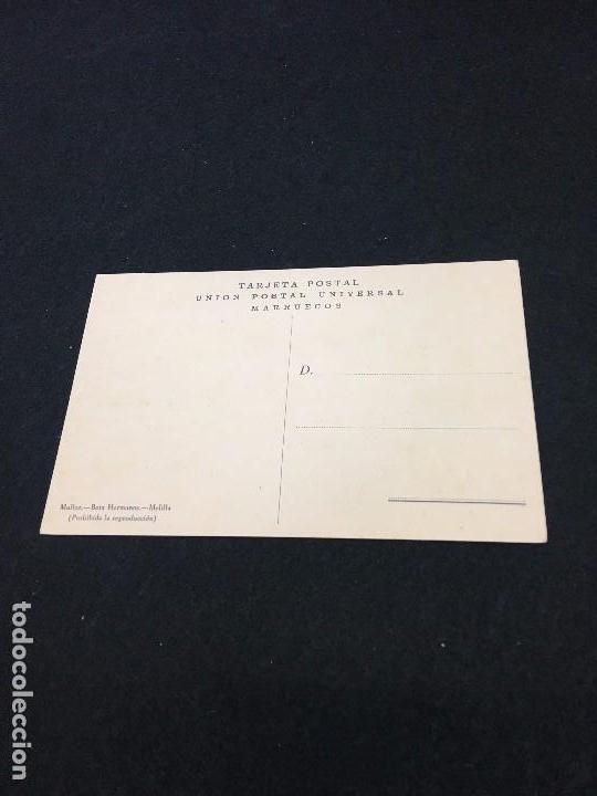 Postales: Melilla. Vendedor de gallinas. Mullor.- Boix Hermanos. Unión Postal Universal. Marruecos. c.1940. - Foto 2 - 93389785
