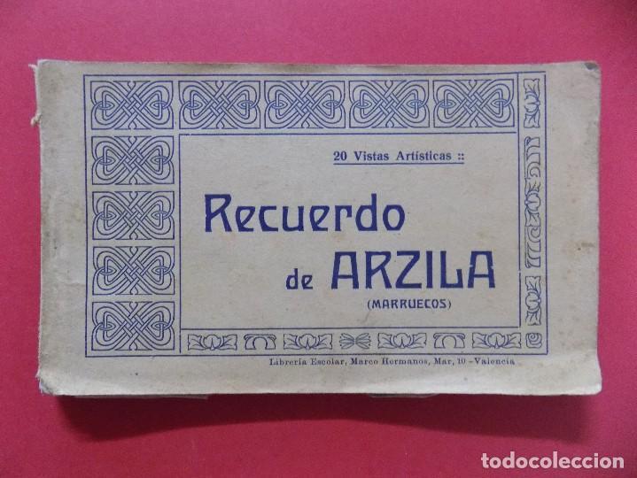BLOCK -POSTAL-20 POSTALES RECUERDO DE ARZILA, ASILAH (MARRUECOS) - MARCO HERMANOS, VALENCIA.. R-6669 (Postales - Postales Temáticas - Ex Colonias y Protectorado Español)