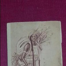 Postales: POSTAL CARICATURAS MORAS. LA LEÑADORA - Nº 5, DIBUJO MULLOR - MELILLA. SIN COLOREAR. Lote 96336459