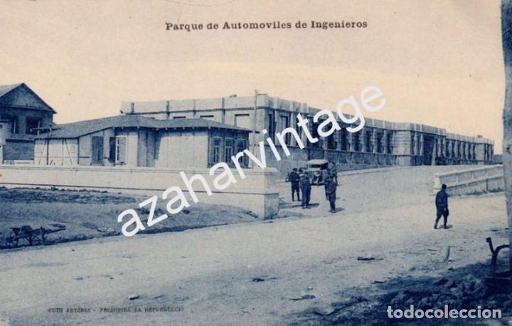 GUERRA DEL RIF (MARRUECOS) . PARQUE DE AUTOMOVILES DE INGENIEROS - EDICION M. ARRIBAS (Postales - Postales Temáticas - Ex Colonias y Protectorado Español)