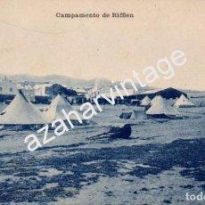 Postales: GUERRA DEL RIF (MARRUECOS) . CAMPAMENTO DE RIFFIEN - EDICION M. ARRIBAS . Lote 96752835