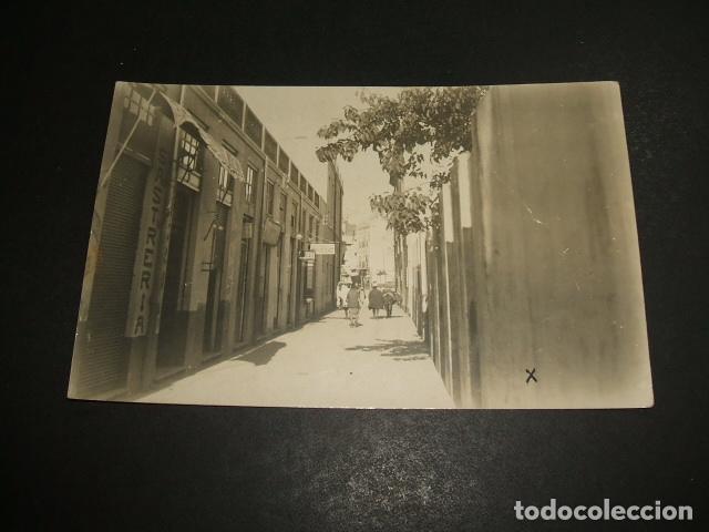 LARACHE MARRUECOS PROTECTORADO ESPAÑOL UNA CALLE POSTAL FOTOGRAFICA 1926 (Postales - Postales Temáticas - Ex Colonias y Protectorado Español)