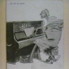 Postales: GUERRA DE AFRICA : POSTAL HUMORISTICA DE MORO TOCANDO EL PIANO. MELILLA. Lote 98067283