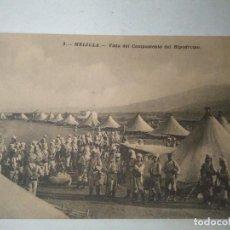 Postales: VISTA DEL CAMPAMENTO DEL HIPÓDROMO. MELILLA.. Lote 100360459