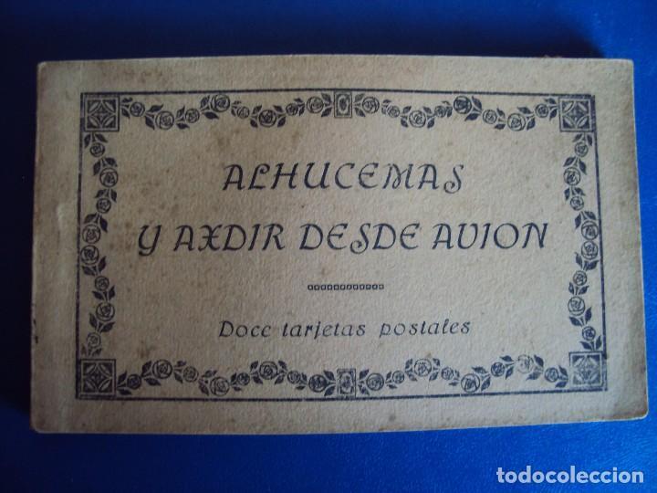 (PS-53659)BLOCK DE 12 POSTALES ALHUCEMAS Y AXDIR DESDE AVION (Postales - Postales Temáticas - Ex Colonias y Protectorado Español)