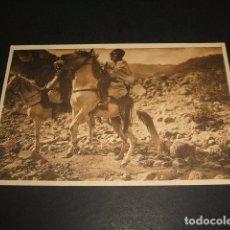 Postales: EL RIF JOSE ORTIZ ECHAGÜE JINETES MOROS EN MAZUZA POSTAL 2ª SERIE Nº 2 . Lote 103991179