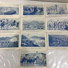Postales: COLECCION 10 POSTALES GUERRA DE MARRUECOS 1909 DE EL DIARIO ESPAÑOL. Lote 108521851