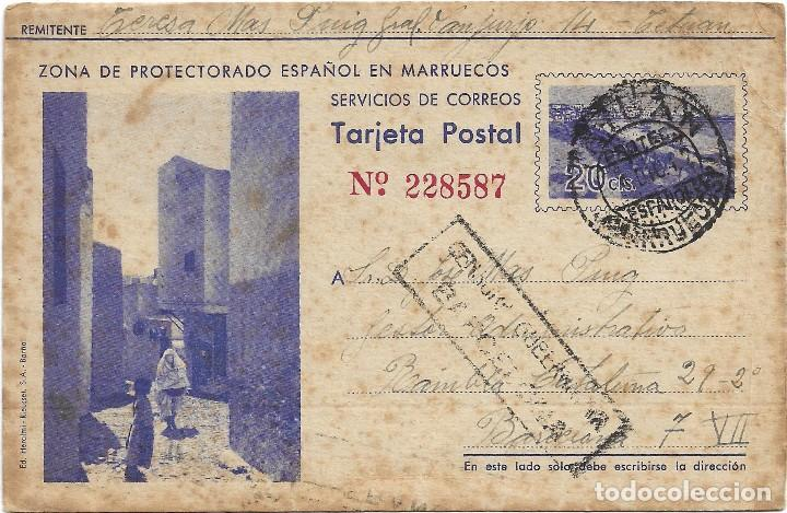 ENTERO POSTAL ZONA PROTECTORADO ESPAÑOL EN MARRUECOS .- EDI. HERALMI - RIEUSSET (Postales - Postales Temáticas - Ex Colonias y Protectorado Español)