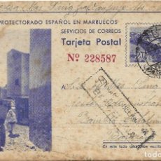 Postales: ENTERO POSTAL ZONA PROTECTORADO ESPAÑOL EN MARRUECOS .- EDI. HERALMI - RIEUSSET. Lote 109363439