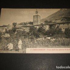 Postales: XAUEN MARRUECOS ESPAÑOL CHEFCHAUEN VISTA DESDE LAS AFUERAS DE LA CIUDAD. Lote 109446339