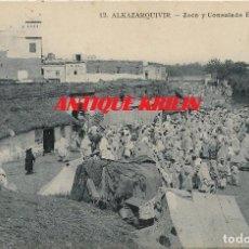 Postales: ALKAZARQUIVIR Nº 12 .- ZOCO Y CONSULADO ESPAÑOL.- COLECCION M. RUBIALES . Lote 109527107