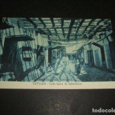 Postales: TETUAN MARRUECOS ESPAÑOL CALLE TIPICA DE BABUCHEROS. Lote 110032255