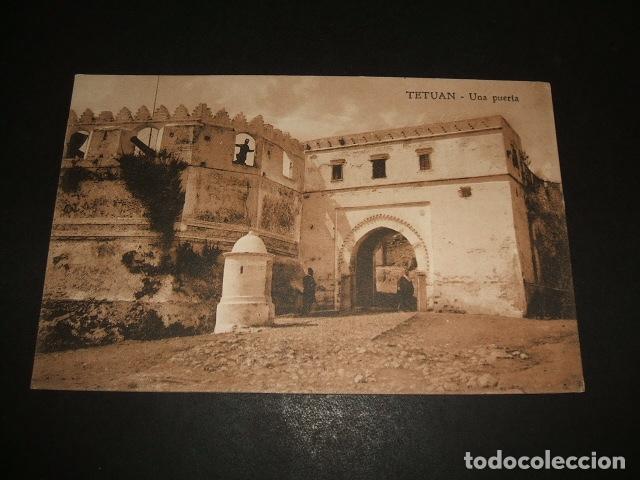 TETUAN MARRUECOS ESPAÑOL UNA PUERTA (Postales - Postales Temáticas - Ex Colonias y Protectorado Español)