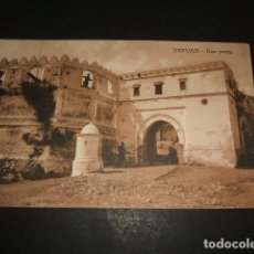 Postales: TETUAN MARRUECOS ESPAÑOL UNA PUERTA. Lote 110197519