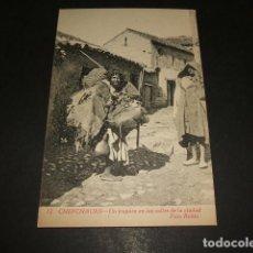Postales: XAUEN CHEFCHAUEN MARRUECOS ESPAÑOL UN TRAPERO EN LAS CALLES DE LA CIUDAD FOTO RUBIO CEUTA. Lote 110205143