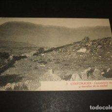 Postales: XAUEN CHEFCHAUEN MARRUECOS ESPAÑOL CEMENTERIO MORO Y MURALLAS DE LA CIUDAD FOTO RUBIO CEUTA. Lote 110205287