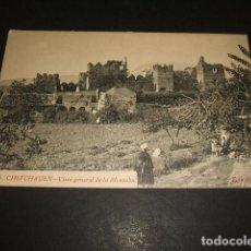 Postales: XAUEN CHEFCHAUEN MARRUECOS ESPAÑOL VISTA GENERAL DE LA ALCAZABA FOTO RUBIO CEUTA. Lote 110205307