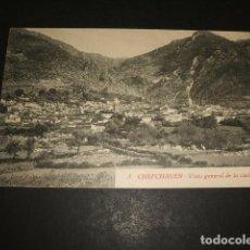 Postales: XAUEN CHEFCHAUEN MARRUECOS ESPAÑOL VISTA GENERAL DE LA CIUDAD FOTO RUBIO CEUTA. Lote 110205411