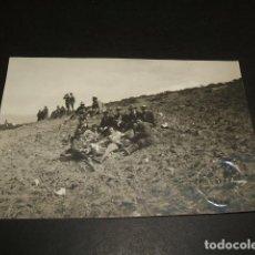 Postales: TETUAN MARRUECOS ESPAÑOL GUERRA DEL RIF GRUPO DE CIVILES Y MILITARES POSTAL FOTOGRAFICA. Lote 110246587
