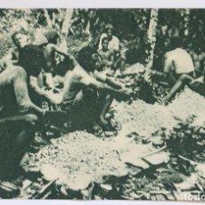 Postales: GUINEA CONTINENTAL- EXPOSICION IBERO-AMERICANA, SEVILLA-1929-DESGRANADO CACAO EN UNA FINCA FDO POO. Lote 112963075