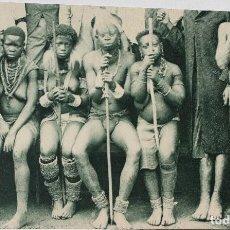 Postales: GUINEA CONTINENTAL- EXPOSICION IBERO-AMERICANA, SEVILLA-1929- BUBIS DE BALACHÁ. Lote 112968995