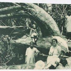 Postales: GUINEA CONTINENTAL- EXPOSICION IBERO-AMERICANA, SEVILLA-1929- BRAZOS DE UN GIGANTE ABATIDO. Lote 112969575