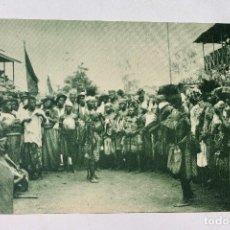Postales: GUINEA CONTINENTAL- EXPOSICION IBERO-AMERICANA, SEVILLA-1929- PÁMUES BAILANDO EN SANTA ISABEL. Lote 112971159
