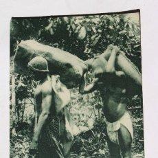 Postales: GUINEA CONTINENTAL- EXPOSICION IBERO-AMERICANA, SEVILLA-1929- TIPOS CLASICOS DE BRACEROS. Lote 112972987