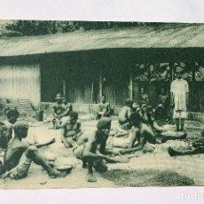 Postales: GUINEA CONTINENTAL- EXPOSICION IBERO-AMERICANA, SEVILLA-1929- SELECCIONADO SIMIENTE EN CAFETALES. Lote 112985867
