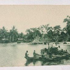 Postales: GUINEA CONTINENTAL- EXPOSICION IBERO-AMERICANA, SEVILLA-1929- BALSA DE IZAGUIRRE Y COMPAÑIA. Lote 112988187