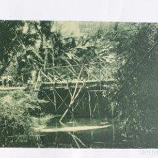 Postales: GUINEA CONTINENTAL- EXPOSICION IBERO-AMERICANA, SEVILLA-1929- PUENTE SOBRE EL RIO FUA.. Lote 113247779