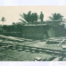 Postales: GUINEA CONTINENTAL- EXPOSICION IBERO-AMERICANA, SEVILLA-1929- MADERA SERRADA DE SOCOGUI. Lote 113248575