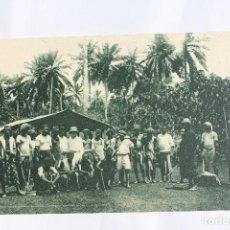 Postales: GUINEA CONTINENTAL- EXPOSICION IBERO-AMERICANA, SEVILLA-1929- BRACEROS Y ENCARGADOS DE PLANTACION. . Lote 113257391