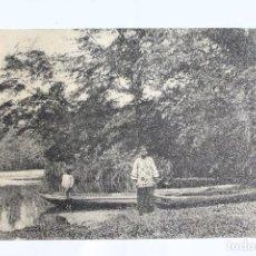 Postales: FOTO AL LADO DEL RIO ,BREWERVILLE, MONROVIA. PRINCIPIOS 1900.. Lote 113476543