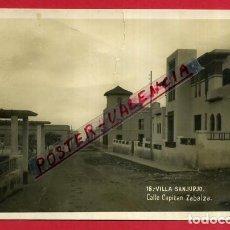 Postales: POSTAL VILLA SANJURJO, ALHUCEMAS, CALLE CAPITAN ZABALZA, P86702. Lote 114670243